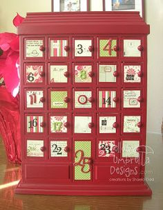 Yellow Umbrella Designs: Altered Advent Calendar and a Challenge