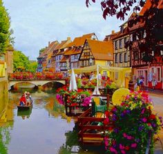 Joseph Abhar - Colmar, France. Is considered one of the most beautiful and fairytale-esque and must see towns in Europe.