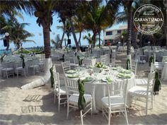 Todo listo para celebrar el mejor momento de tu vida  #beach #wedding #Rivieramaya #Mexico #LMmontaje