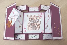 instructions - New Diy Gifts Trend Fun Fold Cards, Pop Up Cards, Folded Cards, Diy Cards, Handmade Cards, Ideas Scrapbook, Handmade Scrapbook, Scrapbook Cards, Popup Cards Tutorial