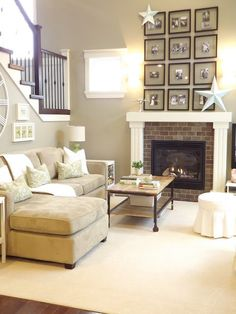 Mourning Dove by Martha Stewart Paints -- entire 1st floor of their home is painted this color. Its a gray, green, taupe color.