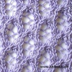 Cast on a multiple of 8 stitches. Add 2 selvage stitches if you want to make a…