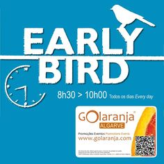 "Early Bird Breakfast 10% Discount @ Lazuli Bar | Praia da Luz | Promo GOlaranja | http://www.golaranja.com/pt/special-offers/empresa/lazuli-bar | Enjoy our daily Early Bird Breakfast Menu from 8h00 to 10h00. Situated near the beach, this Portuguese owned and run snack bar is an ideal place to come and take a break - Desfrute o nosso pequeno almoço ""Early Bird"". #Breakfast #Lazuli #PraiaDaLuz #GOlaranja"