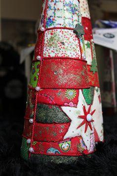 Arvores de Natal em Patchwork embutido