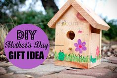 DIY Mother's Day GIFT IDEA - Homemade - Fingerprint Fun! Quick, easy, inexpensive and fun CRAFT for the KIDS!