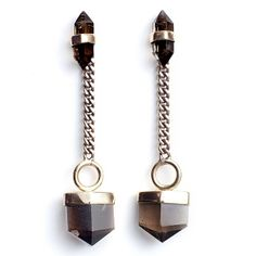 Gold Quartz Solstice Earrings by MANIAMANIA