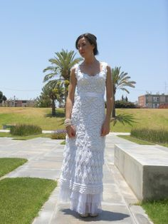 Crochet wedding dress by gibor81 on Etsy