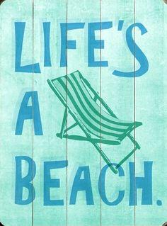 Life's a Beach Wood Sign Vintage