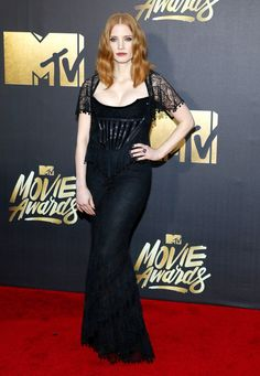 Eye popping Jessica Chastain Charlize Theron Emila Clarke at the 25th Annual MTV Movie Awards