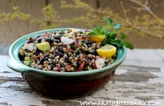 This black bean and barley salad was darned near instant with planned leftovers at FreshBitesDaily.com