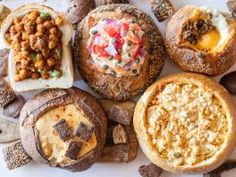 Beyond Soup : <p>Bread bowls may conjure up memories of lackluster servings of broccoli-cheddar soup or clam chowder, but bread has been used for centuries as a vehicle for eating other savory foods. Here are seven dishes made even more amazing by being served in a bread bowl.</p>  <p> </p>  <p><b>Photography by Jackie Alpers</b></p>
