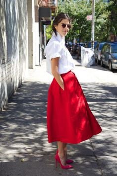 Test Driving This Season's Full Skirt | Man Repeller