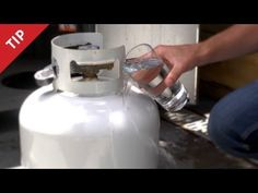 Estimate How Much Propane is Left in Your Tank with a Glass of Water. Just an estimate but works great.