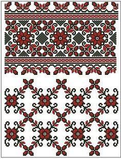 Cross Stitch Geometric, Cross Stitch Bird, Beaded Cross Stitch, Cross Stitch Borders, Cross Stitch Flowers, Cross Stitch Charts, Cross Stitch Designs, Folk Embroidery, Embroidery Fashion