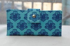 BACK in STOCK  Handmade womens wallet police call box handmade clutch dr who doctor who on Etsy, $56.00