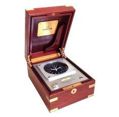 RAREST Marine Ship Chronometer OMEGA Megaquartz 4.19MHz, cal.1525, Box, Papers