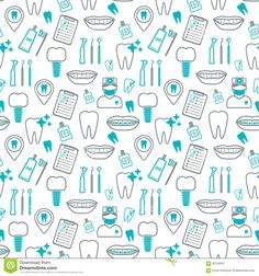 dental-seamless-pattern-linear-icons-flat-design-vector-illustration-60756567.jpg (1300×1390)