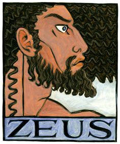 Zeus, the Greek Sky Father and King of the Olympian Gods by THALIA TOOK