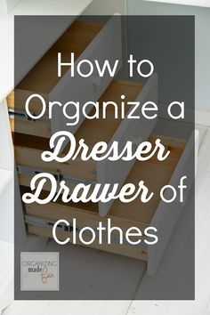 Not everyone must organize the same way or have drawers that look a certain way. Here are few ways to organize drawers along with some other options to give you ideas that may work for you.