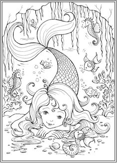 Welcome to Dover Publications Little Mermaid Friends is part of Mermaid coloring pages - Mermaid Coloring Pages, Coloring Pages For Girls, Cute Coloring Pages, Coloring Pages To Print, Coloring For Kids, Coloring Books, Mandala Coloring, Printable Adult Coloring Pages, The Little Mermaid