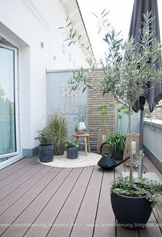 How to create - Scandi Boho Style auf der Dachterrasse Scandi Garden, Apartment Patio Gardens, Balkon Design, Balcony Furniture, Look Boho, Boho Style Dresses, Scandi Style, Outdoor Living, Outdoor Decor