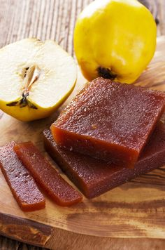 Make homemade membrillo, or quince paste, with this authentic recipe from The Moro Cookbook. The sweet jelly is perfect for cheese boards or as a condiment. Greek Sweets, Greek Desserts, Greek Recipes, Fruit Recipes, Apple Recipes, Dessert Recipes, Quince Jelly, Quince Recipes, Apples And Cheese