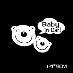 Free shipping 3D Cartoon Car Stickers Reflective Vinyl Two bears Baby In Car Baby on Board Car Sticker On Rear Windshield