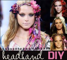 Dianne Von Furstenburgs 2009 spring collection headbands - DIY