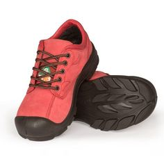 dd63fc169cd Women s steel toe safety shoes. Lightweight and comfortable. CSA and  dielectric approved. Red