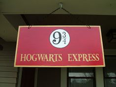 My Harry Potter Party: Platform 9 3/4 - The Sign