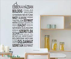 Házi áldás falmatrica (Grafikashop) - Meska.hu