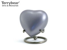 Terrybear Lineas Blue Starlight Heart Keepsake. This Keepsake can hold a small amount of cremated remains.