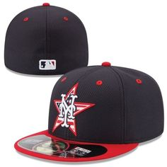 New York Mets New Era Stars   Stripes 4th of July Diamond Era Performance  59FIFTY Fitted Hat - Navy Blue Red 1588a89a3f18
