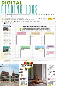Fun, interactive digital nonfiction reading logs!  These full color reading goal trackers will motivate your elementary students to complete their nightly reading to finish the scenes with movable images!  Includes a reading comprehension response for each day of the week. Check them out to learn more!