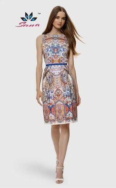 Cheap Sana internacional marca Vestidos 2015 mujeres del verano vestido  Vintage impreso Desigual vestido estampado de c8b41ed40708