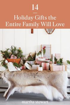We're sharing some of our favorite family-friendly presents and must-have gifts that everyone will enjoy and cherish this year. #marthastewart #holidaygifts #holidayideas #christmasgifts #giftsforher #giftsforhim