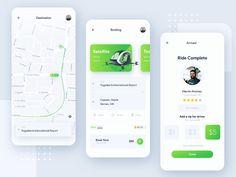 Frogs App - Public Transport Aplication designed by ahmad sulaiman for Plainthing Studio. Mobile Ui Patterns, Iphone Ui, Digital Web, Landing Page Design, Ui Inspiration, Mobile Design, Public Transport, Ui Design, Mobile App