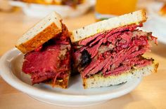 Smoked meat sandwich at Mile End