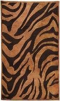 Basilica Collection Contemporary Animal Print Tiger Area Rug