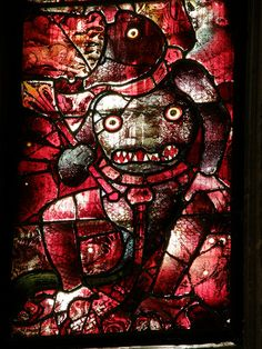 a demon: Fairford church stained glass | Flickr - Photo Sharing! - oldest medieval stained glass windows in England