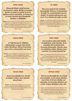 Surahs and Meanings - Kurani Oku Islam Religion, Islam Muslim, Allah Islam, Islamic Dua, Islamic Quotes, Alphabet For Kids, Thing 1, Muslim Quotes, Health Desserts
