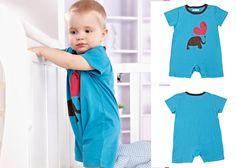 Newborn Baby Toddler Girl Cotton Long Sleeve Bodysuits Clothing Blue Elephant #ibaby #Everyday
