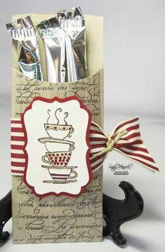 coffee treat petite pocket die stampin up