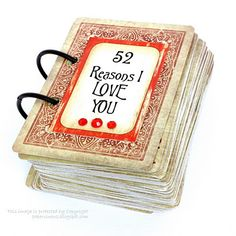"PaperVine: ""52 Reasons I Love You"" Cards Tutorial"
