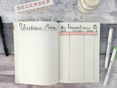 Christmas Bullet Journal | Page Three