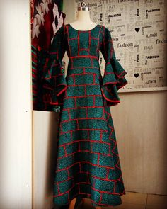 Image may contain: one or more people and people standing African Maxi Dresses, African Fashion Ankara, African Dresses For Women, African Print Fashion, Africa Fashion, African Attire, African Wear, African Print Dress Designs, Ankara Gown Styles