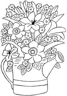 Pintura em Tecido,Inciantes, Como fazer, Passo a passo, Riscos e muitas dicas.: Riscos Para Pintura em Tecido Flores Spring Coloring Pages, Flower Coloring Pages, Coloring Pages To Print, Coloring Book Pages, Coloring Sheets, Art Ancien, Drawing Templates, Printable Adult Coloring Pages, Flower Doodles