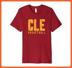 Mens CLE Basketball T-Shirt Cleveland Ohio Sports XL Cranberry - Sports shirts (*Partner-Link)