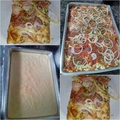 Pizza rápida de liquidificador »