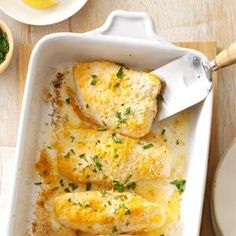 Lemon-Parsley Baked Cod--OMG, this cod is absolutely incredible! Lemony, buttery deliciousness! Made 3/11/14